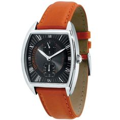 Orange Leather, Omega Watch, Jewels, Watches, Detail, Accessories, Black, Jewerly, Wristwatches