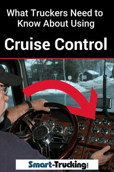 One of the best ways for a trucker to control their speed, is by use of cruise control. Here are some tips for best practices when using cruise control. Safe Driving Tips, Truck Driving Jobs, Big Rig Trucks, New Trucks, Transport Info, Family Car Decals, Save Fuel, New Luxury Cars, New Drivers