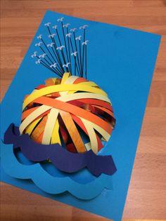 World book day craft idea Roald Dahl day idea James and the giant peach paper craft art activity