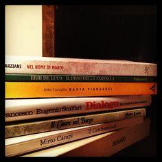 Italian books in a private library