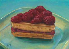 Marion Stephan - Ein Stück Erdbeerkuchen, #marionstephanfineart, #cakepainting, #cake