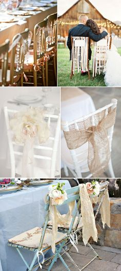 Wedding/Ceremony/Reception chair styling/decorations