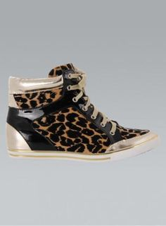 best service 21e33 2f589 Leopard Print High Top Sneakers Sneakers Style, Wedge Sneakers, High Top  Sneakers, Sneakers