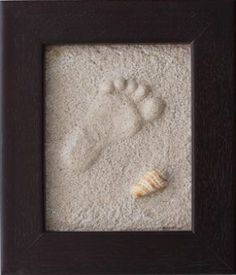 How to make a lasting hand or foot print in the sand. This is so cool!