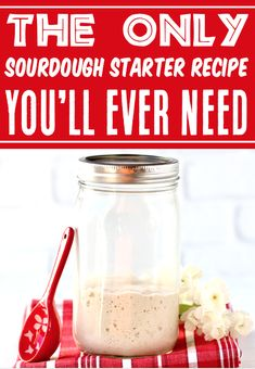 Sourdough Starter Recipe! How to Make Easy San Francisco Style sourdough bread... with a perfect starter! It's so much easier than you think, thanks to these simple step-by-step instructions! Go grab the recipe and get yours started this week!