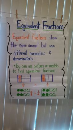 Equivalent Fractions 3rd Grade Fractions, Fourth Grade Math, Math Fractions, Teaching Fractions, Equivalent Fractions, Teaching Numbers, Teaching Math, Math Lesson Plans, Math Lessons