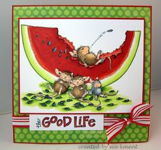 """""""The Good Life"""" by Sue Kment on House-Mouse Designs® House Mouse Stamps, Pet Mice, Prim Christmas, Funny Tattoos, Animal Cards, Outdoor Art, Sympathy Cards, Kids Cards, Flower Cards"""