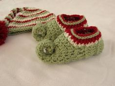 How to crochet children's elf slippers / boots / shoes - crochet Christmas elf set PART 2 - YouTube