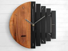Architecture House Discover Industrial Wall Clock Unique Wall Clock Home Gift Clock Unusual Wall Clock Component Clock Wood Clock Abstract Style Industrial Decor Unique Wall Clocks, Wood Clocks, Unusual Clocks, Metal Clock, Wooden Wall Decor, Wooden Walls, Wall Wood, Whisky Spender, Triangle Wall