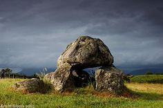 Carrowmore Megalithic Complex   A closeup of the dolmen of tomb 5 - Shadowsandstone.com Photography by Ken Williams