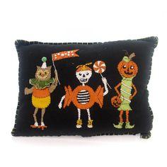 Halloween Sweet Treats Trio Pillow Halloween Accent Pillow