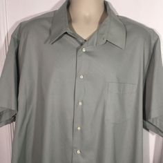 4X XLT NWT Great Northwest Plus Size Khaki /& Grey Men/'s Top Shirt Blouse 3XLT