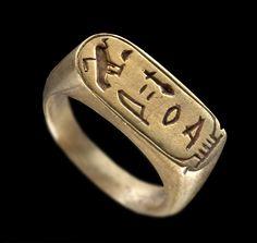 Ring der Königin Nefertari Regierungszeit Ramses II. (1279–1213 v ...