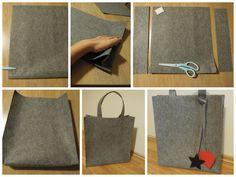 felt bag - keçe çanta  www.madewithlovebysezin.blogspot.com.tr
