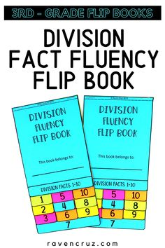 Suprise your students with this division fact fluency flip books! #mathwithraven Math Resources, Math Activities, Multiplication Strategies, Common Core Math Standards, Flip Books, Third Grade Math, Homeschool Math, Elementary Math, Interactive Notebooks