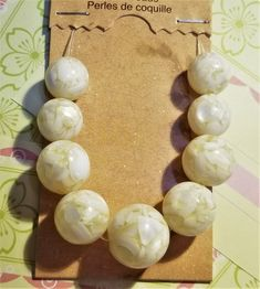 BF-303; Beads Made From Shells That Pick up The Shine Like Mother of Pearl Gorgeous Cream Colors Upcycled Crafts, Craft Items, How To Make Beads, Shells, Pearl Earrings, Cream, Colors, Creative, Etsy