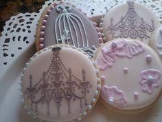 Shabby+Chic+Cookies+by+PetesCustomCookies+on+Etsy,+$30.00