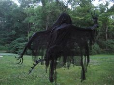 Make a Dementor from scratch! Let's have 3 hanging! THEY LOOK AWESOME. CLICK FOR PHOTOS