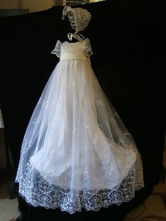 Angela West Christening gown set Sophia with by angelawesthgowns, $239.00