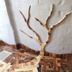 How I Made Floor Art From Random Wood Pieces | Bored Panda