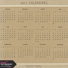 2017 Calendars Kit