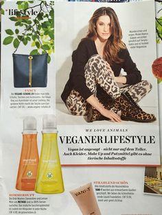 Swiss magazine featuring the Drayton chain tote #vegan#Wilby