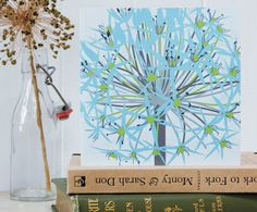 Christmas Winter Allium Card, by Jane Crick via Folksy, £2.00