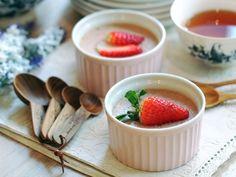 草莓煉乳布丁[健康親子食譜]