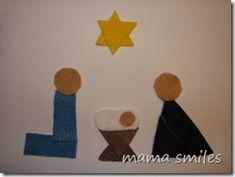 Geometric shapes nativity scene from @Mama Smiles - Joyful Parenting