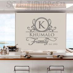 Surname Custom Wall Decal - Personalised Decal - StickyThings.co.za Mirror Metallic, Wall, Vinyl Decals, Wall Decals, Custom Wall, Wall Sticker, Home Decor, All Wall, Home Deco