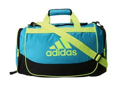 adidas Defender Duffel Small Super Cyan/Electricity - Zappos.com Free Shipping BOTH Ways