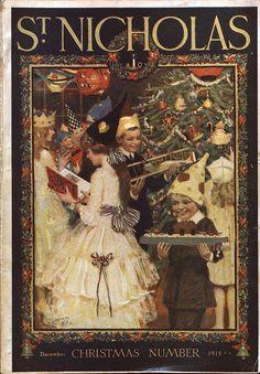 St. Nicholas magazine Christmas cover, December 1919