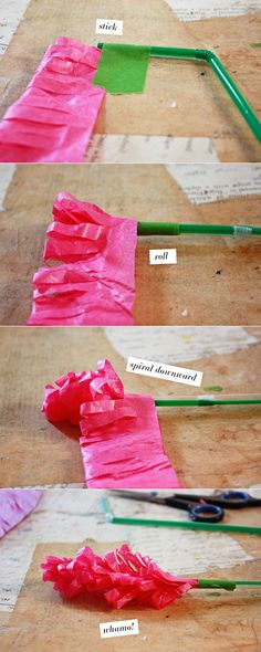 Friday Flower: The Paper Hyacinth. Use with light-weight wire ribbon.
