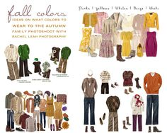 Here are some color palettes to use as inspiration for picking outfits for the special Autumn Session that is coming up! Feel free to wear what you want, but I get a lot of questions on what to wear - and I like the colors on these, they are not so bright as to distract, but have enough fun and color to mesh well with pumpkins, trees, and general fall stuff!