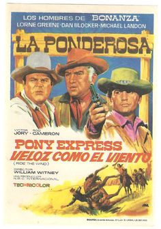 BONANZA TV SERIES MICHAEL LANDON SPANISH HERALD MINI POSTER | eBay