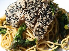 Sesame Tuna with Soy Lime Noodles