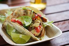 Gojee - Grilled Fish Tacos with Roasted Corn and Pepitas by Steamy Kitchen