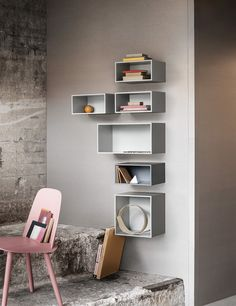 The MINI STACKED is a small and versatile addition to the STACKED shelving system ideal for the living room, kitchen, entrance hall, and bedrooms. The modules can be wall mounted in groups or singles to create a functional storage solution and a personal creative element to your home or office.