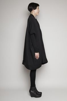 rick owens lilies black quilted sail coat @ totokaelo [sold out]