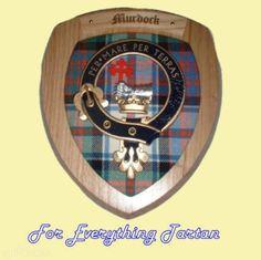 Clan Murdock Tartan Woodcarver Wooden Wall Plaque Murdock Crest 7 x 8