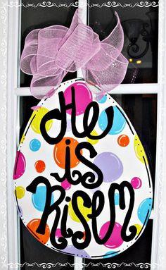 Burlap Crafts, Wood Crafts, Diy And Crafts, Diy Wood, Easter Projects, Easter Crafts, Easter Ideas, Easter Decor, Art Projects