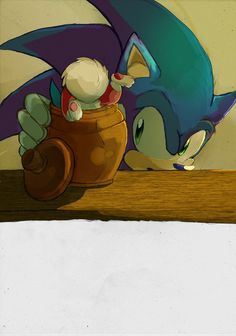 "I must say, this friendship is my absolute favorite! 😆💙 "" Chip and Sonic by "" Sonic Fan Art, Sonic 3, Sonic The Hedgehog, Sonic Underground, Sonic Unleashed, Pokemon, Speed Of Sound, Eggman, Bff"