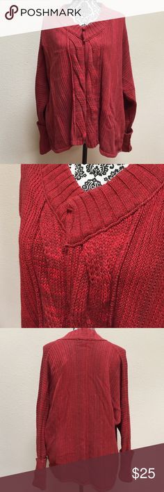 """Calvin Klein cardigan 🍂 This is the perfect fall cardigan sweater! Calvin Klein Jeans size XL. The sweater has an open front with no buttons or fasteners. The colors include burgundy and what I consider a brownish red. Approximate length from the shoulder is 25"""". Excellent condition! Calvin Klein Jeans Sweaters Cardigans"""