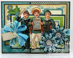 Sailor Boys Happy Birthday Greeting Card Handmade