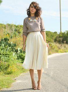 Long skirt & sweater