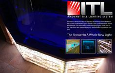 The home owner chose a lit tub skirt from Innovant