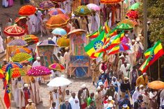 Timkat Festival, Lalibela, Ethiopia (celebrating the baptism of Christ in the Orthodox Church)