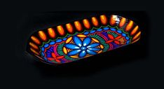 CIDAP Catálogo de Artesanías del Ecuador 2014 | De Tigua para el Mundo | Batea ovalada | Pintura sobre madera.