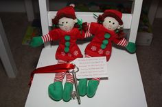 """Holly and Merry delivered a """"Magic"""" key for Santa to use since we didn't have a fireplace that year."""