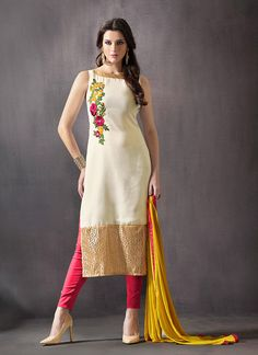 This Off White Georgette Unstitched Pant Suit is including the pretty glamorous showing the feel of cute and graceful. The lovely Butta Work & Lace work a substantial attribute of this attire. Buy Online Exclusive Designer Pant Suit, Party Wear, Pantsuit, dress material, Ceremonial Wear, Pantsuits, Indian Suit, Suits, Shuits For women. We have large range of Designer Pantsuit designs Online in our website with the best pricing and unique designs shipping to World Wide.